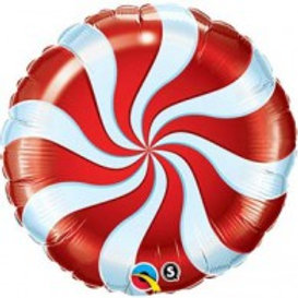 Candy Swirl foil balloon uninflated 22cm christmas