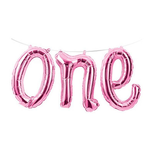 One balloon | 1st birthday party balloons | number one balloon letters | 24-7 Party Paks