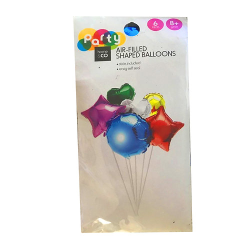 Metallic Colourful Foil Fun Shaped Balloons