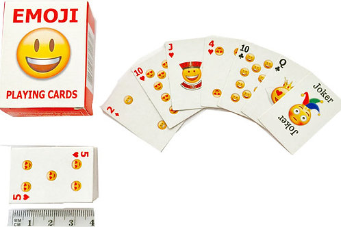 Emoji playing cards - Emoji themed kids party favor gift pack 54 mini cards
