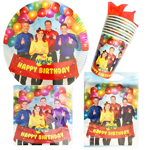The Wiggles party pack | Wiggles party plates | Wiggles party napkins | Wiggles party cups | Wiggles party supplies Australia