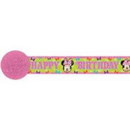 Minnie Mouse birthday streamer crepe 9.1 x 4.7 mtr