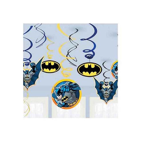 Batman birthday party swirls hanging decorations | Batman party for kids