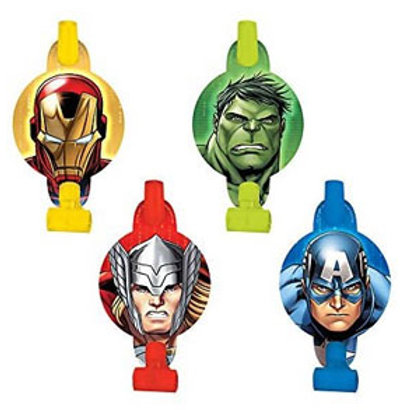 The Avengers party blowouts favors pack 8