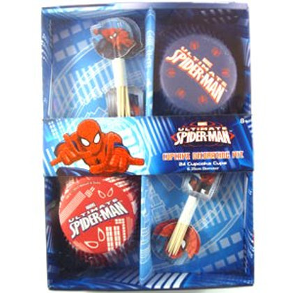 Spiderman cupcake  decorating kit 24 guests