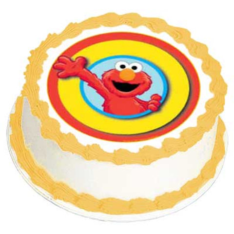 Elmo Birthday Cake Topper Edible Icing Image
