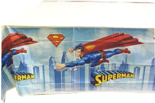 Superman party disposable tablecover 1.8 x 1.3