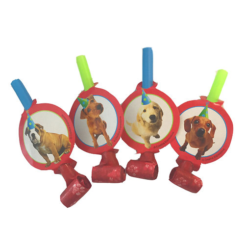 Party Pups themed party blowers pack 7