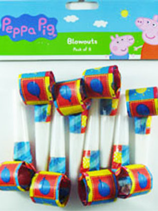 Peppa Pig party blowouts pk 8 - Peppa Pig favors