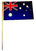 Australian Flag plastic flag 30 cm x 14 5 cm each