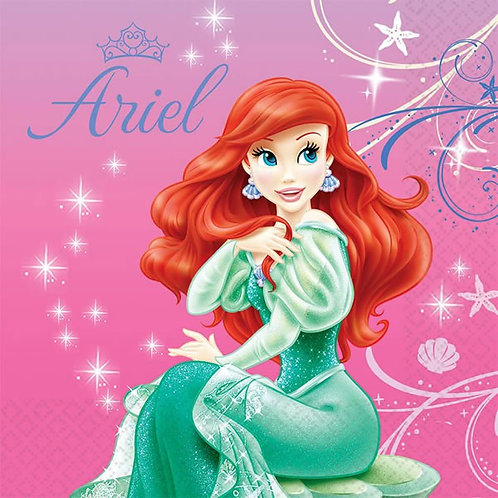 Disney Ariel Little Mermaid paper napkins pack 16
