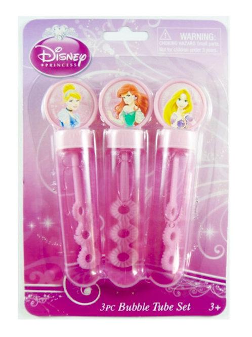 Disney Princess bubbles - Ariel, Cinderella and Rapunzel - girls party favor gifts - party bubble tubes