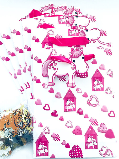 Lovely Chubblies pony party bags x 6