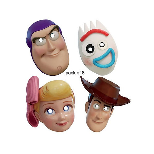 Toy Story 4 party masks pack 8 | toy story party masks | Woody, Buzz, Forky and Little Bo Peep