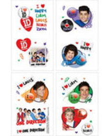 One Direction 1D tattoos party favors pk 16
