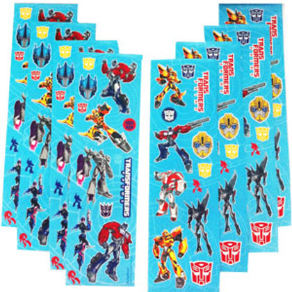 Transformers Stickers |  Transformers party favors | 24-7 Party Paks