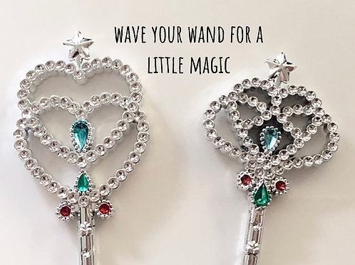 Princess Wand with faux jewels great as prizes or girls party favors