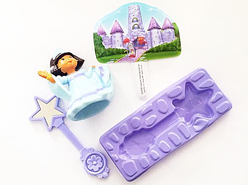 Dora the Explorer princess cake decoration kit includes Dora Princess Figurine