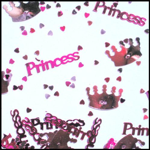 Pink Princess crown table decoration sprinkles 14g