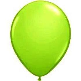 Balloons latex plain - Lime Green Metallic pack 10
