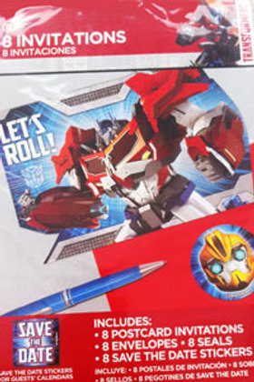 transformers birthday invitation pack | Transformers party invitations