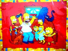 Simpsons placemats pack 6 glossy print Sold Out