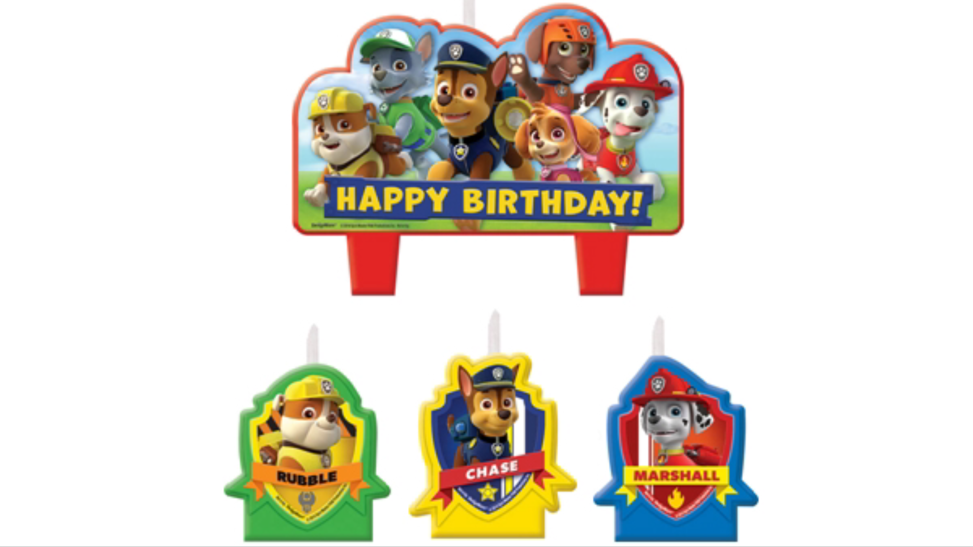 Paw Patrol birthday candles
