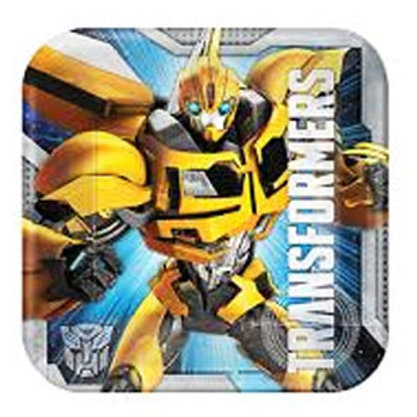Transformers small party plates | Transformers snack plates | Bumblebee party plates