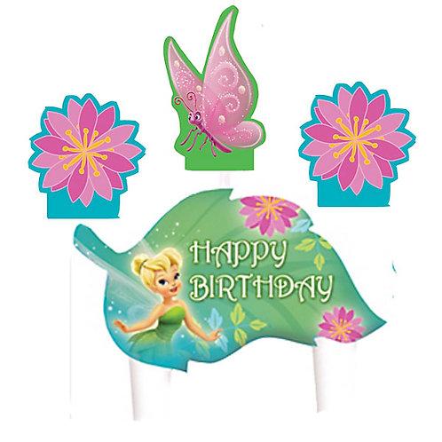 Disney Fairies Tinkerbell Birthday candle set 4