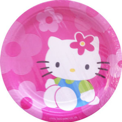 Hello Kitty party plates | hello kitty party | party snack plates | disposable plates | 24-7 Party Paks