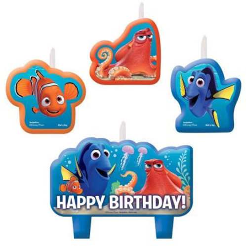 Nemo Birthday candles | Finding Dory set of 4 candles | Finding Nemo party | birthday candles | 24-7 Party Paks