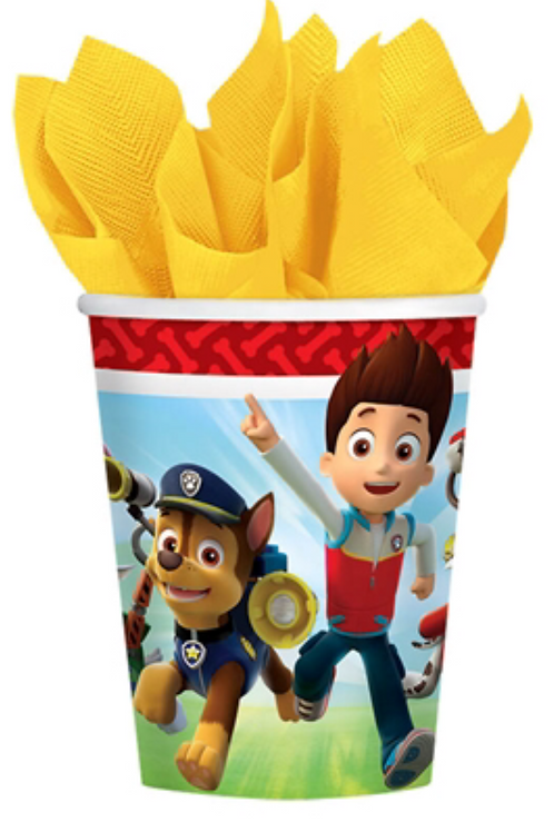 Paw Patrol party drink cups pack 8