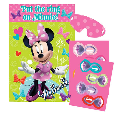 "Disney Minnie Mouse birthday party game ""put a ring on it"" 8 players"