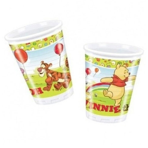 Winnie the Pooh party cups | kids party cups | Winnie Birthday party | 24-7 Party Paks Australia