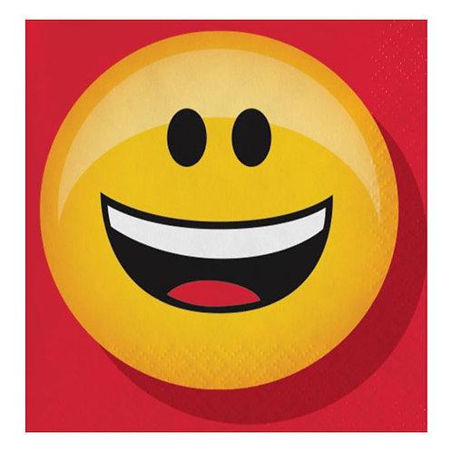 Emojions Party Napkins Snack size pack 16 Mr Smiley Emoji face beverage napkins