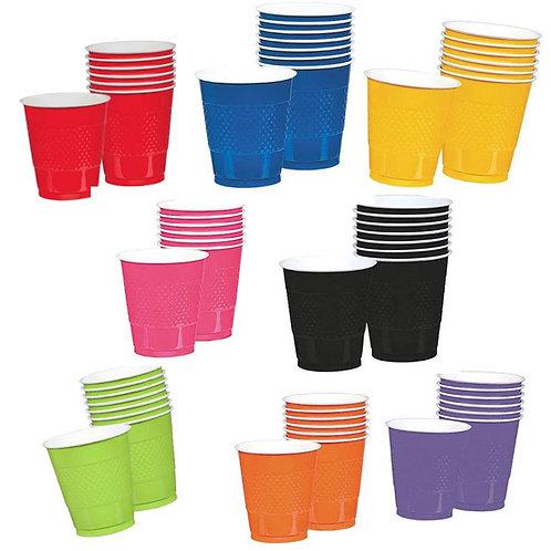 plastic disposable party cups choose colours pk 20