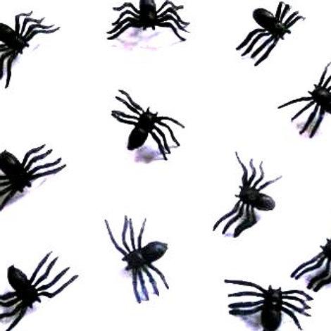 Spiders mini black plastic party favors pk 20