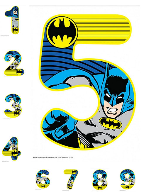 Batman number shape cake topper birthday cake