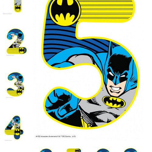 Batman Number Shape Cake Topper Birthday