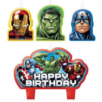 The Avengers birthday cake candles 4 piece