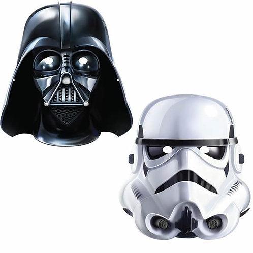 Star Wars birthday party masks pack 8 Darth Vader