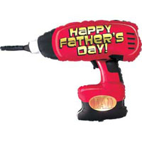 Is your Father a construction worker or builder maybe just Mr FIXIT grab this cool drill shaped balloon NOW ON SALE