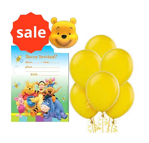 1 Winnie The Pooh Party Pack Sale Last One Balloons Invites Candle