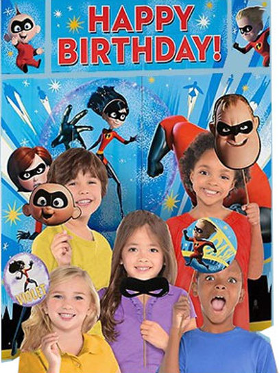 Incredibles scene setter | Incredibles wall decoration | kids birthday party decorations | 24-7 Party Paks