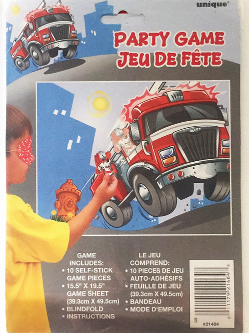 Fireman party game | Fire Truck Pin party game | Fireman party theme | 24-7 party paks