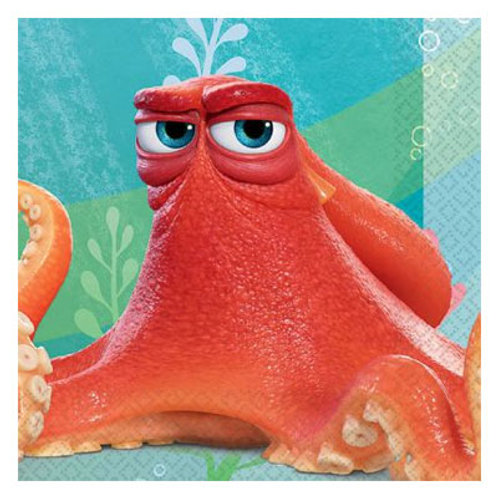 Finding Dory Hank the Octopus snack sized party napkins | Finding Nemo Party supplies