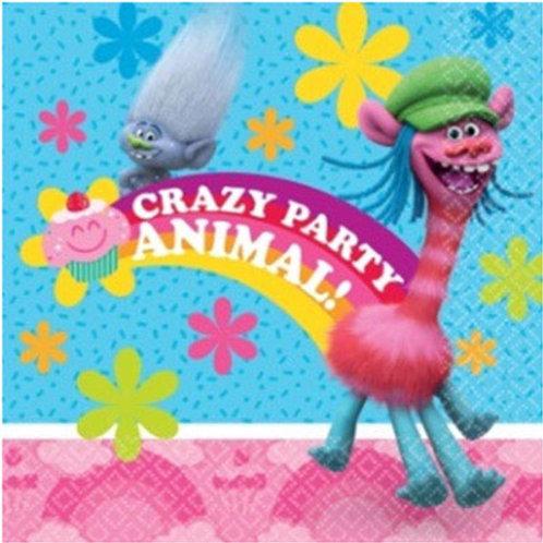 Trolls party napkins | Trolls party | kids party supplies | trolls party supplies online australia | 24-7 Party Paks