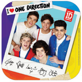 One Direction 1D party plates pk 8