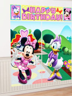 Minnie Mouse wall decoration scene setter