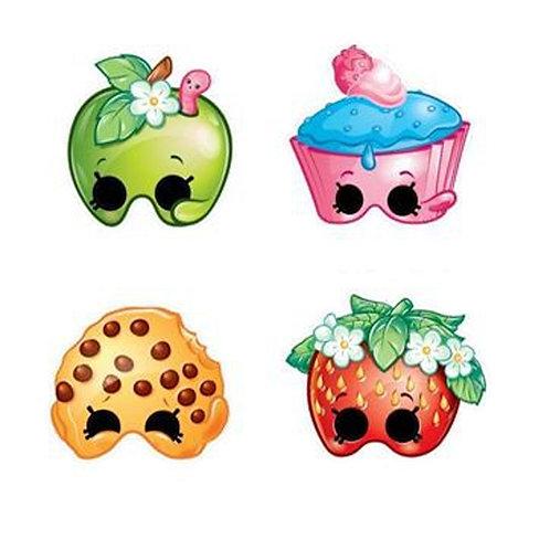 Shopkins party masks 4 designs pack 8
